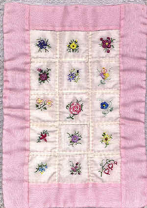 Brazilian Embroidery Design Summer Mini Quilt