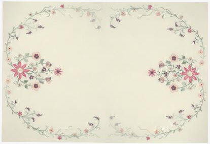 JDR  194  Peaches and Cream  Table Topper