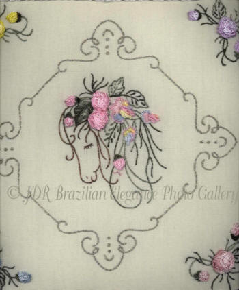 Brazilian Embroidery Design JDR 6009 Horse Scents
