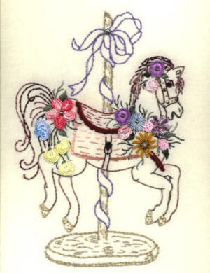 Brazilian Embroidery Pattern JDR 6019 Carousel Horse