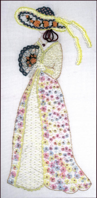 Brazilian Embroidery design: Debutant- Introduction to Society JDR6080