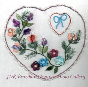 Brazilian Embroidery Heart Full of Roses