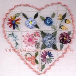 JDR 6105 Beginner's Brazilian Embroidery Heart Sampler