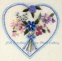 JDR 6106 Beginner's Heart With Bouquet of Flowers