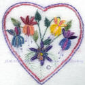 JDR 6118 Judys Columbine Heart An Advance Brazilian Embroidery Design