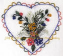 JDR 6119 Heart of Japanese Violets & Ferns