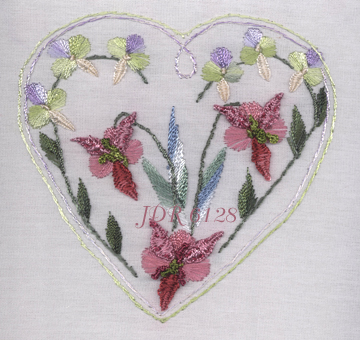JDR 6128 Anita's Wood Orchid Brazilian Dimensional Embroidery Pattern