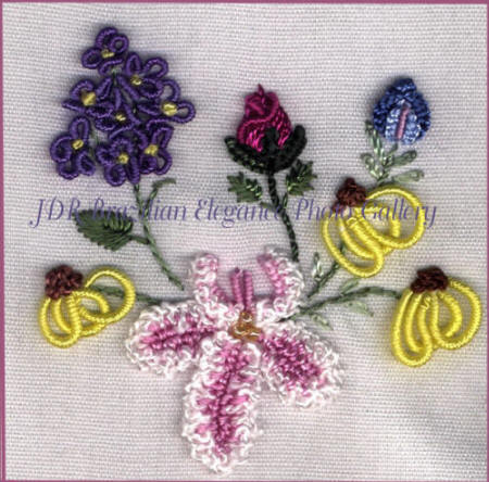 Brazilian Embroidery Sampler Block 7