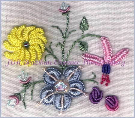 Brazilian Embroidery Sampler Block 10
