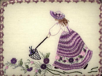 Brazilian Embroidery Kit, JDR 6006 Butterfly Catcher
